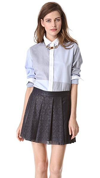 Jonathan Simkhai Checkered Oxford Shirt