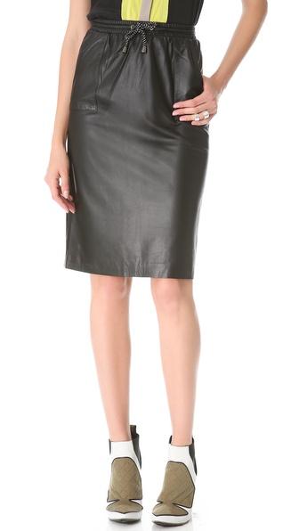 Jonathan Simkhai Leather Pencil Skirt