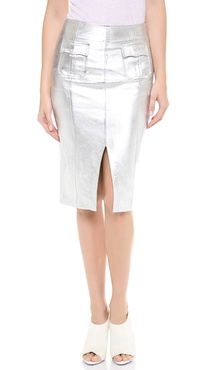 Jonathan Simkhai Leather Pocket Pencil Skirt
