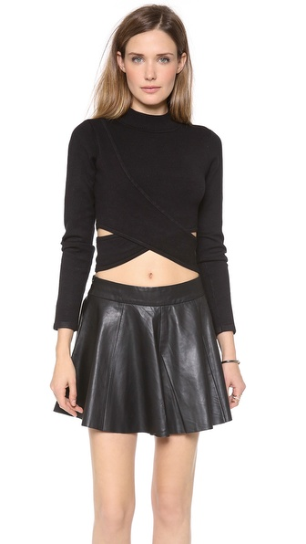 Jonathan Simkhai Slit Crop Turtleneck