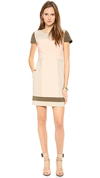 Jonathan Simkhai Crepe Cap Sleeve Dress
