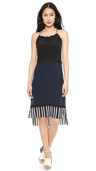 Jonathan Simkhai Stripe Trim Dress