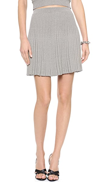 Jonathan Simkhai Ribbed Knit Flared Skirt
