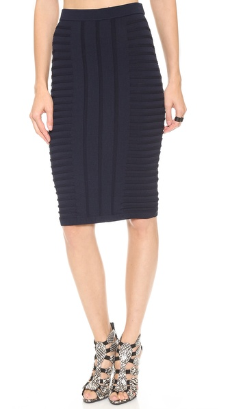 Jonathan Simkhai Embossed Stretch Knit Skirt