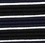 Navy/Black/White Stripe