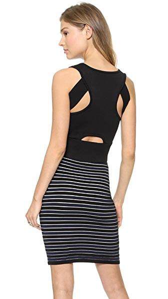Jonathan Simkhai V Neck Cutout Crop Top