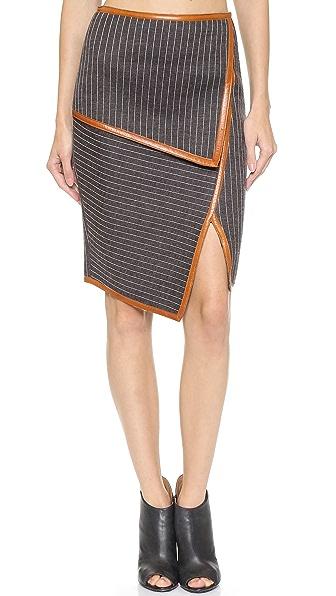 Jonathan Simkhai Neo Pinstripe Layer Skirt