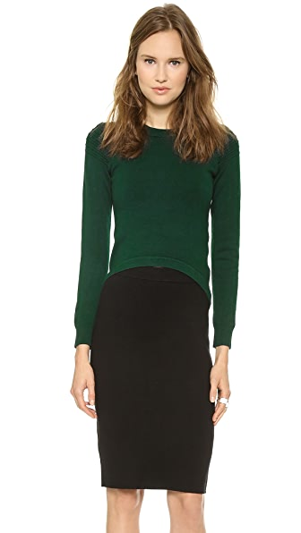 Jonathan Simkhai High Low Utility Sweater
