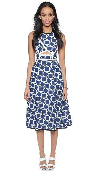 Kupi Jonathan Simkhai haljinu online i raspordaja za kupiti Jonathan Simkhai Wrap Cutout Dress Navy/White online