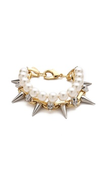 Joomi Lim London Calling Skull Layered Bracelet