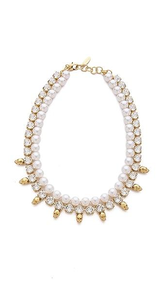 Joomi Lim Baroque Punk Crystal & Skull Necklace