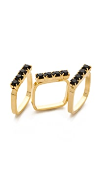 Joomi Lim Baroque Punk Crystal Ring Set