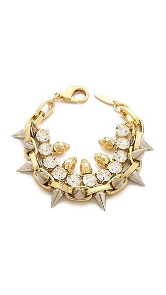 Joomi Lim Baroque Punk Crystal Skull & Spike Bracelet