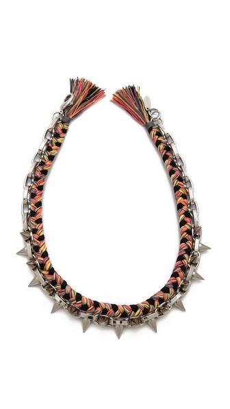Joomi Lim Punk Carnival Rio Spike & Braided Necklace