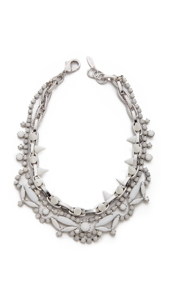 Joomi Lim White Out Crystal & Spikes Necklace