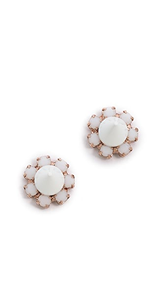 Joomi Lim White Out Crystal Spike Stud Earrings