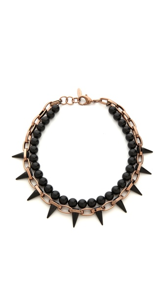 Joomi Lim Midnight Rose Chain & Spike Choker