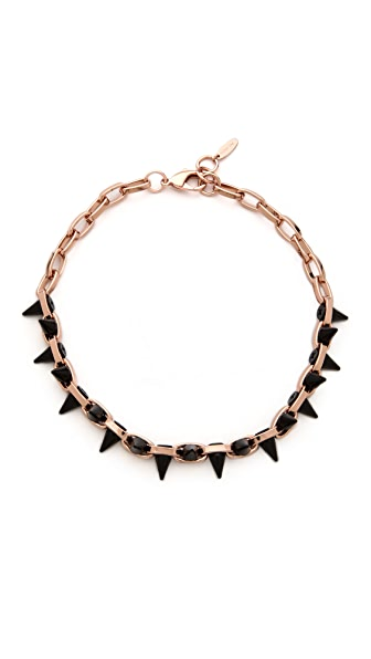 Joomi Lim Black Out Double Row Spike Choker