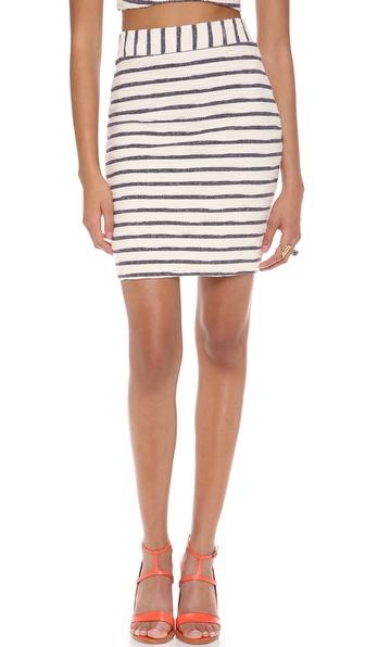 JOA Striped Skirt
