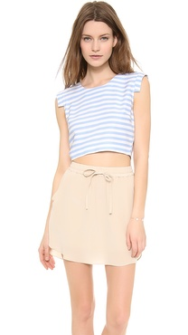 JOA Striped Crop Top