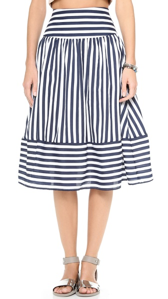 JOA Striped Skirt