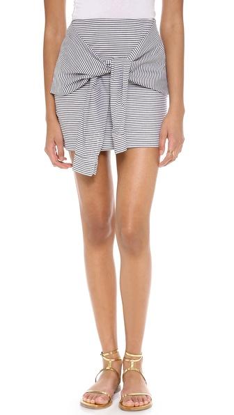 JOA Front Tie Skirt