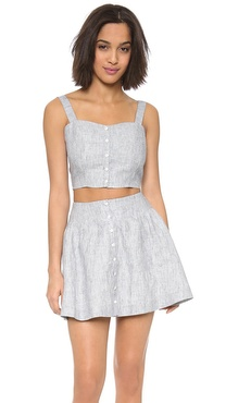 JOA Sleeveless Crop Top