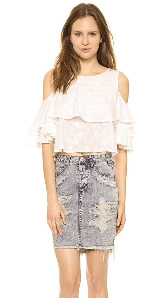 JOA Ruffled Blouse