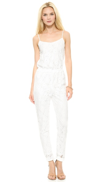 JOA Lace Jumpsuit