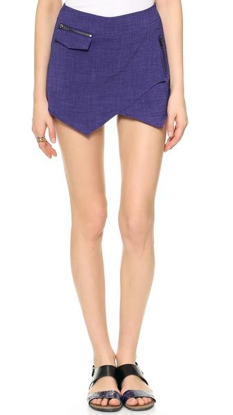 JOA Asymmetrical Hem Shorts