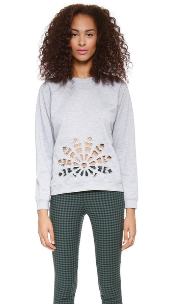 JOA Laser Cut Sweatshirt