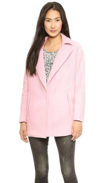 JOA Oversized Coat with Big Lapels