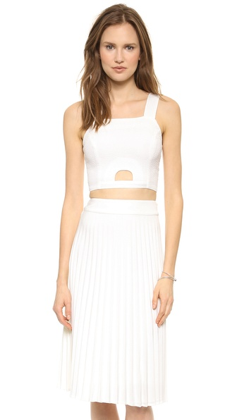 JOA White Crop Top