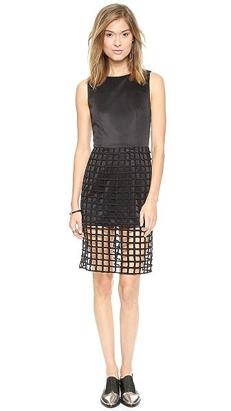 Shop J.O.A. online and buy J.O.A. Caged Detail Dress - Black dresses online