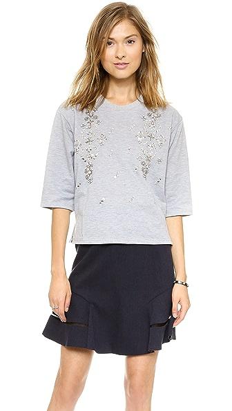 J.O.A. Jewel Embellished Sweatshirt