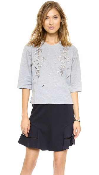 JOA Jewel Embellished Sweatshirt