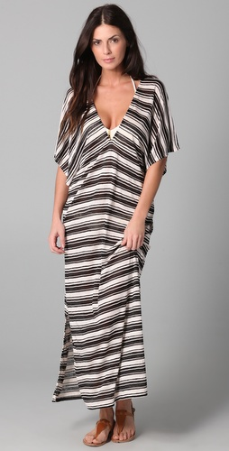 JOSA tulum Double V Caftan Cover Up