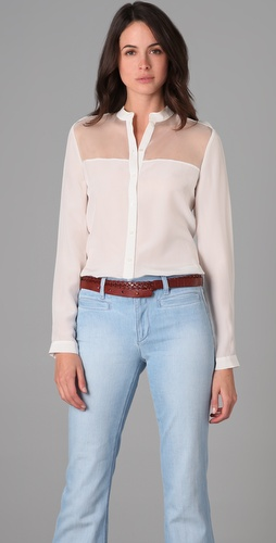 Joseph Button Down Blouse