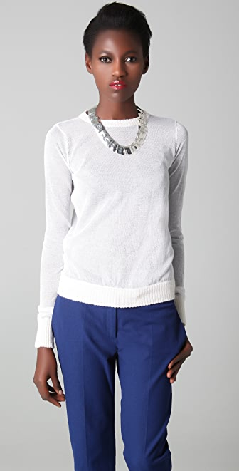 Joseph Sheer Crew Neck Sweater