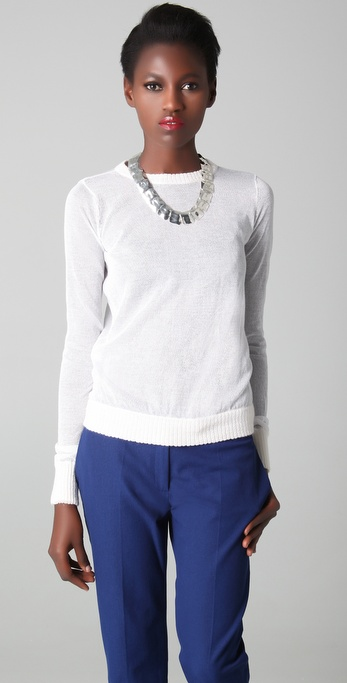 Joseph Sheer Crew Neck Sweater