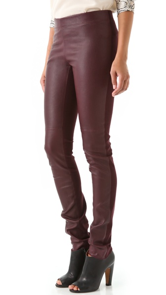Joseph Leather Front Leggings