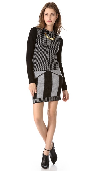 Joseph Shad Stripe Sweater Dress