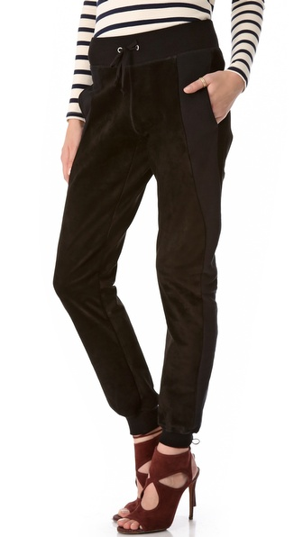Joseph Suede Gathered Ankle Pants