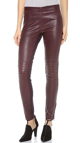 Joseph Angel Leather Combo Pants