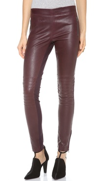 Joseph Angel Leather Combo Pants
