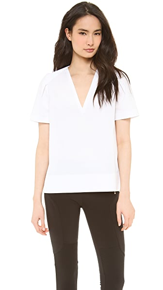 Joseph Kacie Poplin V Neck Top