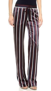 Joseph Satin Stripe Pajama Trousers