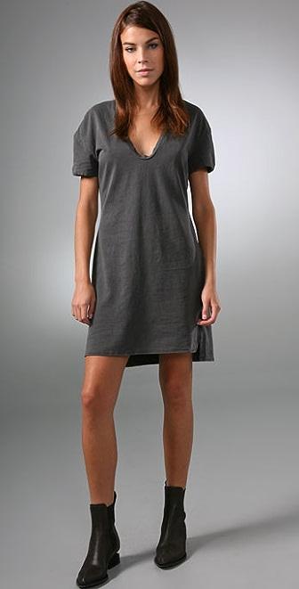 James Perse Stretched Soft V Dress