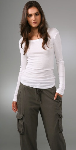 James Perse Long Sleeve Rib Tee