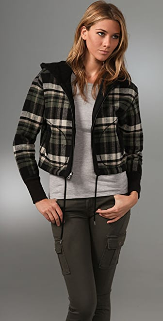 James Perse Reversible Hooded Jacket